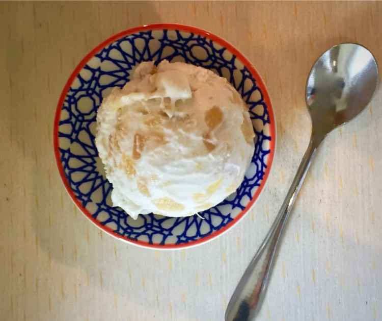 Creamy vegan stem ginger ice-cream makes a decadent dessert.