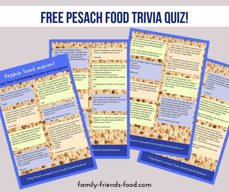 free pesach food quiz