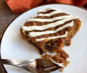 vegan carrot cake on a plate.
