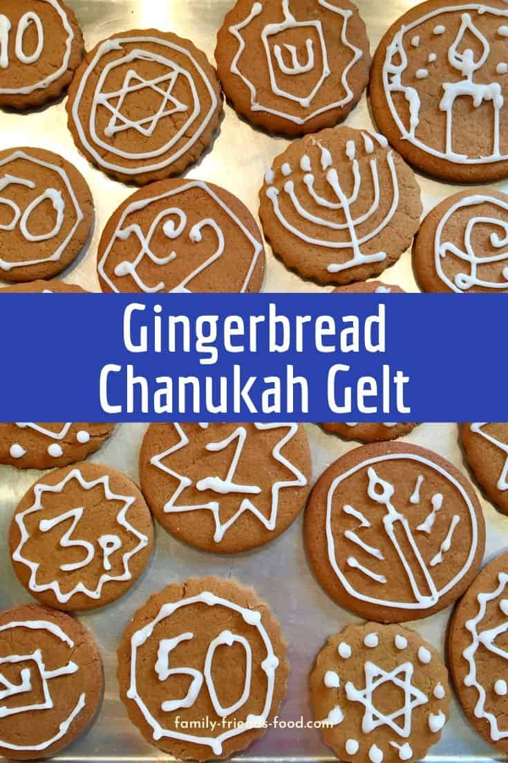 Delicious seasonal gingerbread cookies are iced to resemble coins. Let Gingerbread Chanukah gelt be your new festive tradition!