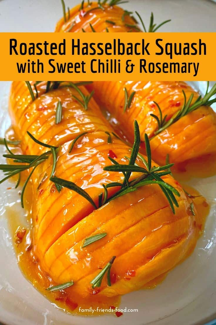 Roasted hasselback butternut squash combines simple ingredients and just a few minutes  of effort to create a stunning, delicious side dish fit for a special occasion.
