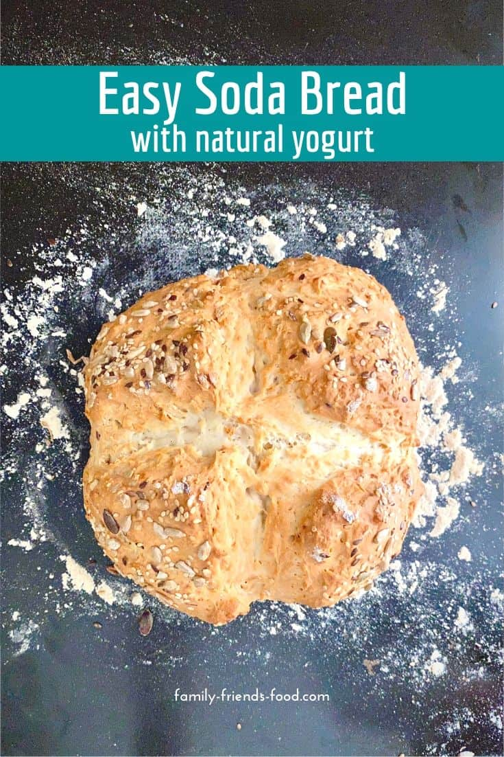 Ready to eat in about 40 minutes with no yeast and no kneading! Soda bread with yogurt is a deliciously fluffy quick loaf that's delicious with butter, cheese or your favourite toppings.