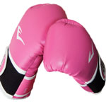 a pair of pink boxing gloves