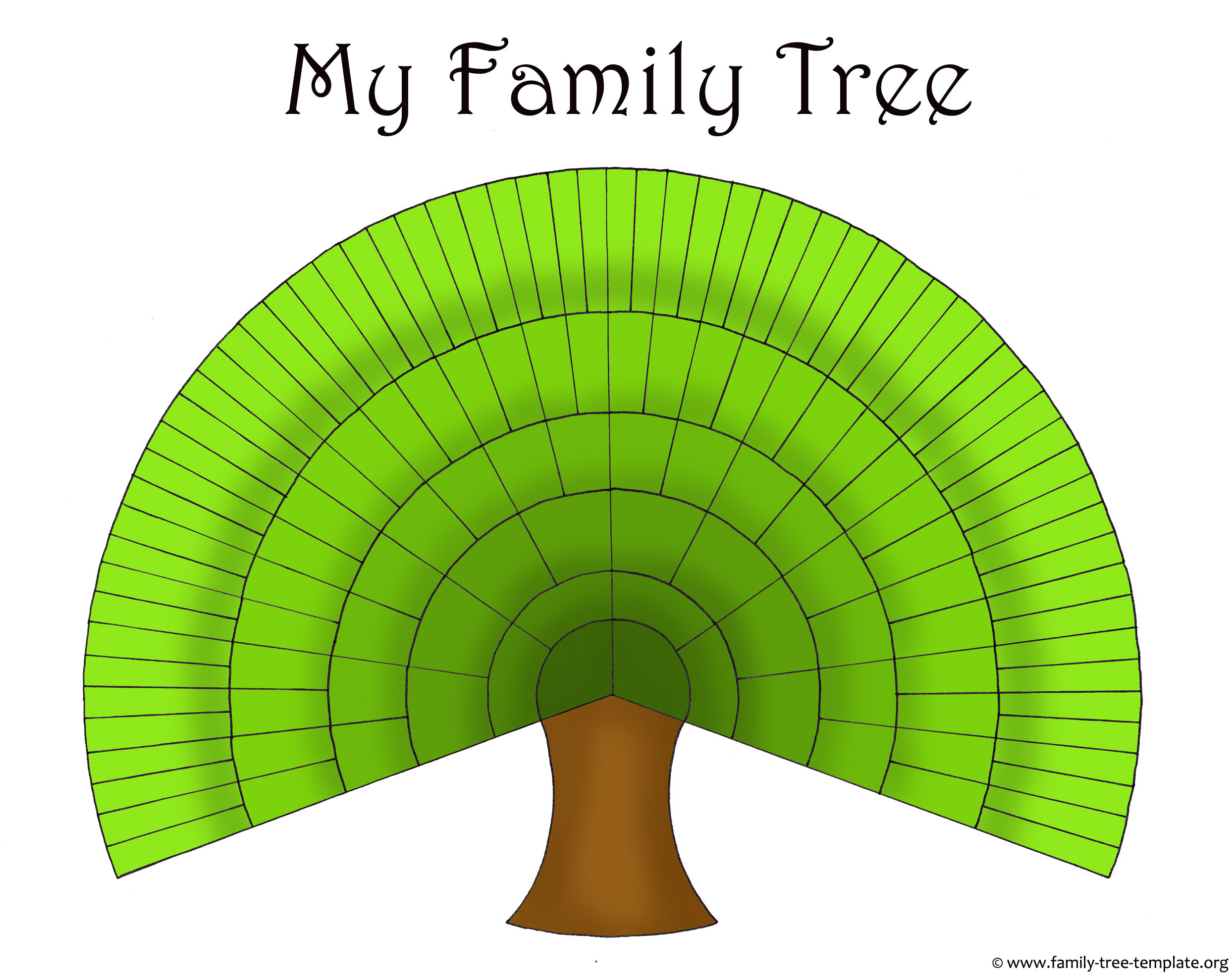 Blank Family Trees Templates And Free Genealogy Graphics