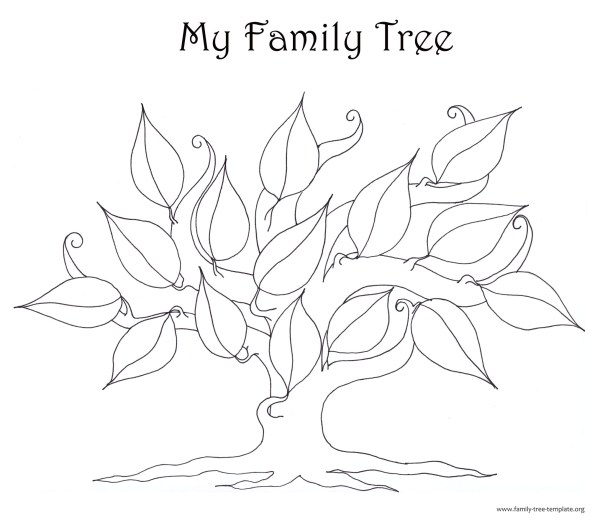 family tree coloring page # 18