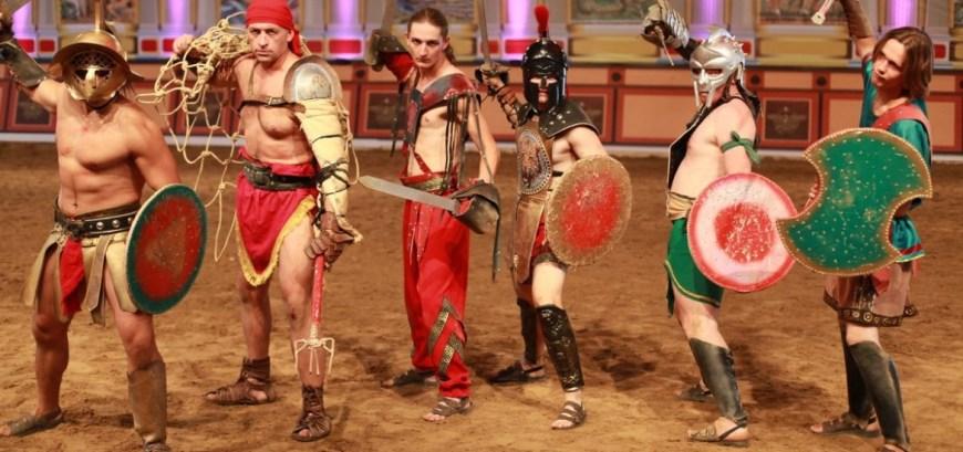 гладиаторы рима, шоу