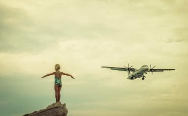 Самолёт, отдых с детьми