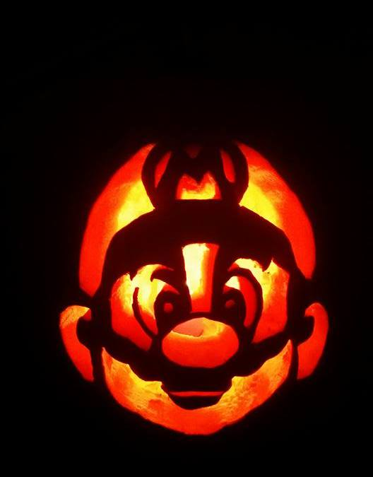 Mario Pumpkin Carving 2015