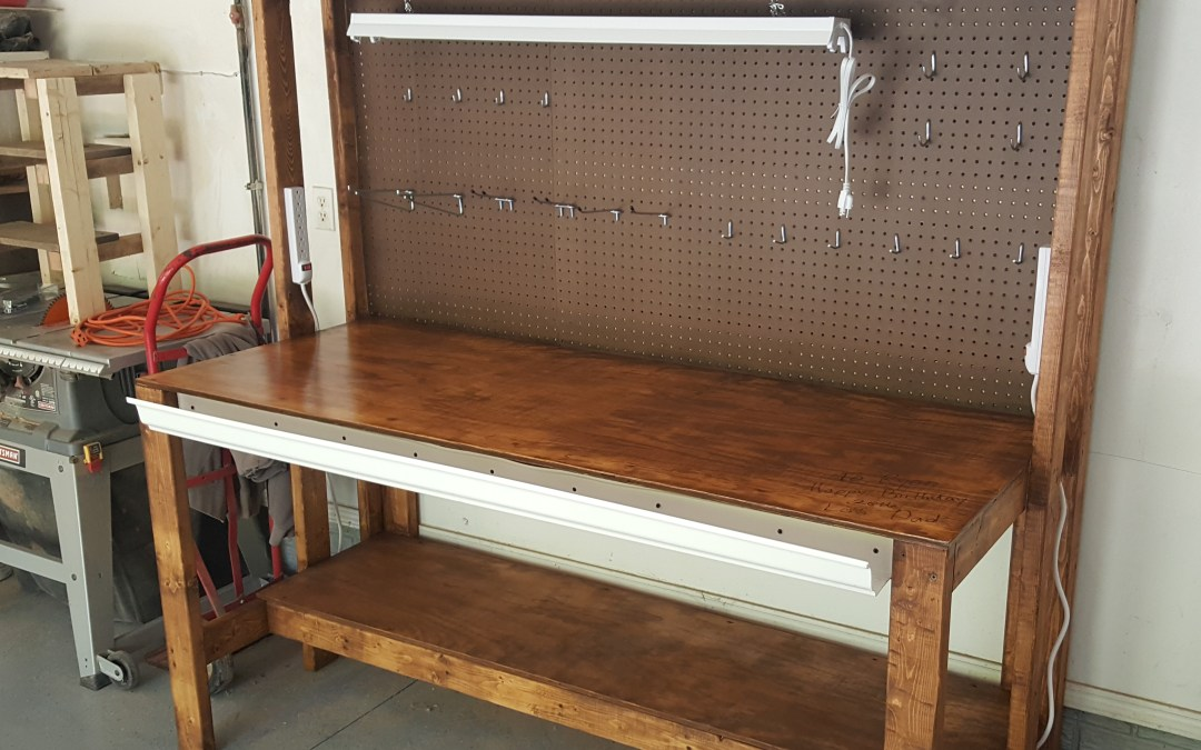 Diy garage workbench plans pratt family blog for Diy garage plans
