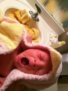 Dorothy after her bath