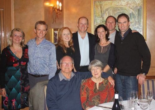 Adult part of our family celebrating my 80th birthday
