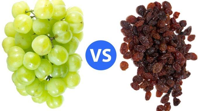 Healthy Living: Raisins vs. Grapes?