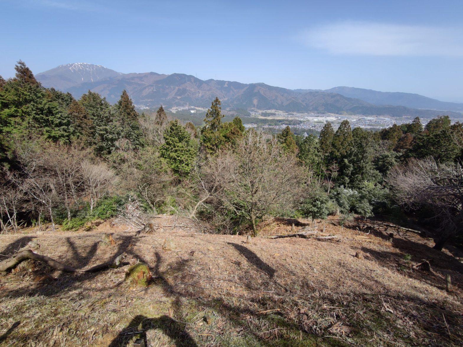 松尾山城跡から見る関ケ原