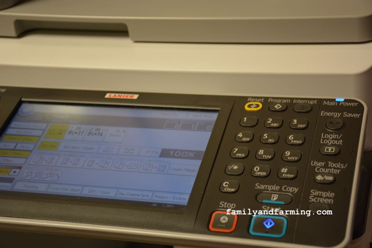 Photo of photo copier