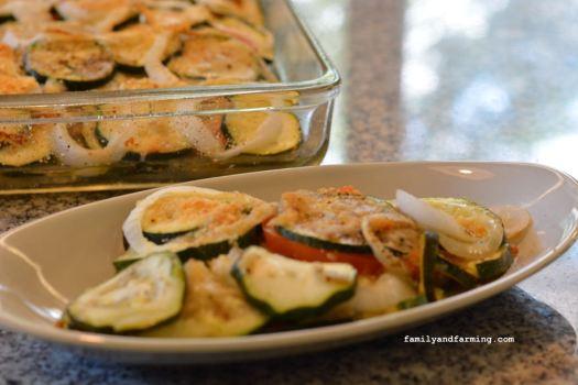 Photo of baked zucchini casserole