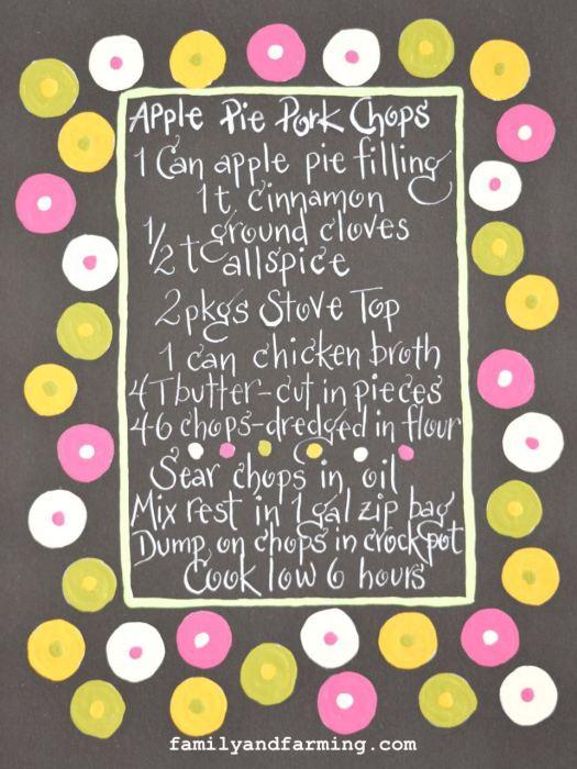 Apple Pie Pork Chop Recipe