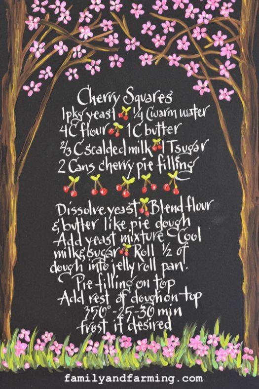 Cherry Square Recipe