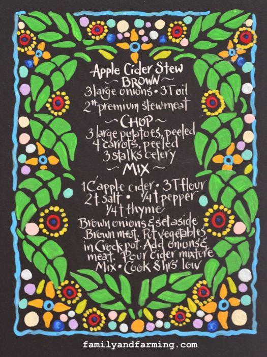 Apple Cider Stew Recipe