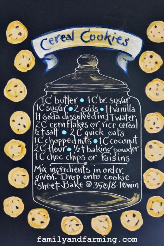 Cereal Cookie Recipe Illustration