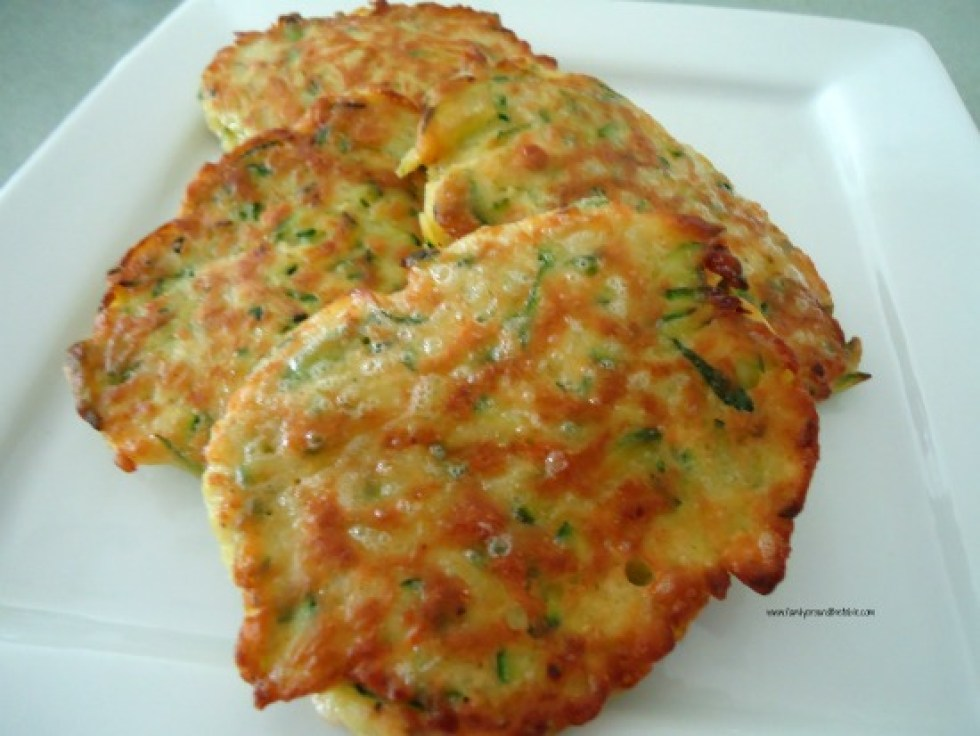 Zucchini pancakes make a delicious side dish for many entrees.
