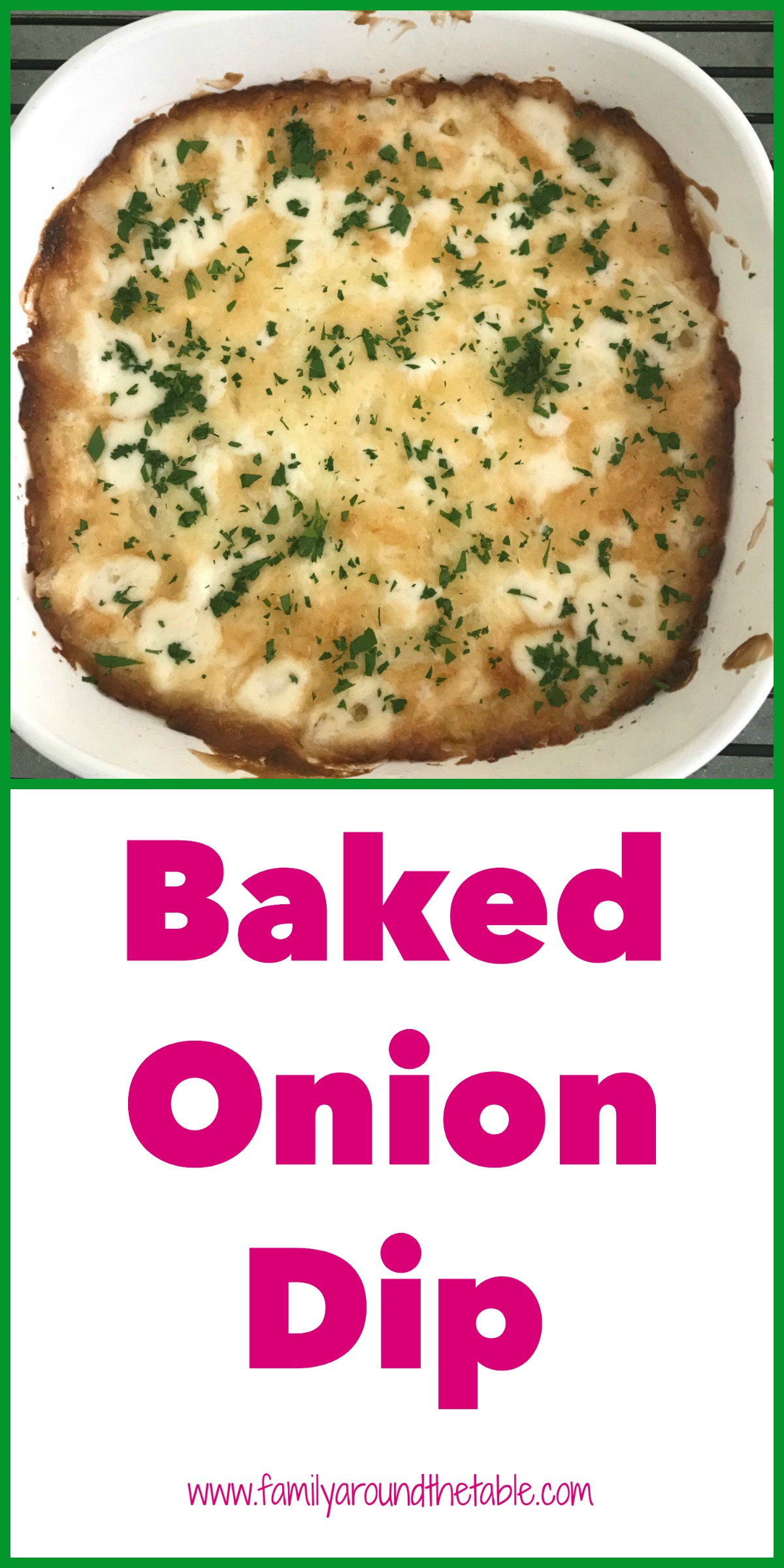 Baked onion dip served before dinner will keep hungry guests happy.