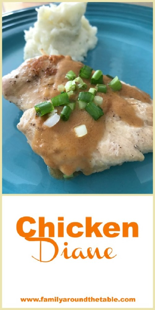 Chicken Diane is an easy yet impressive dinner. Perfect for a weeknight or when entertaining guests.
