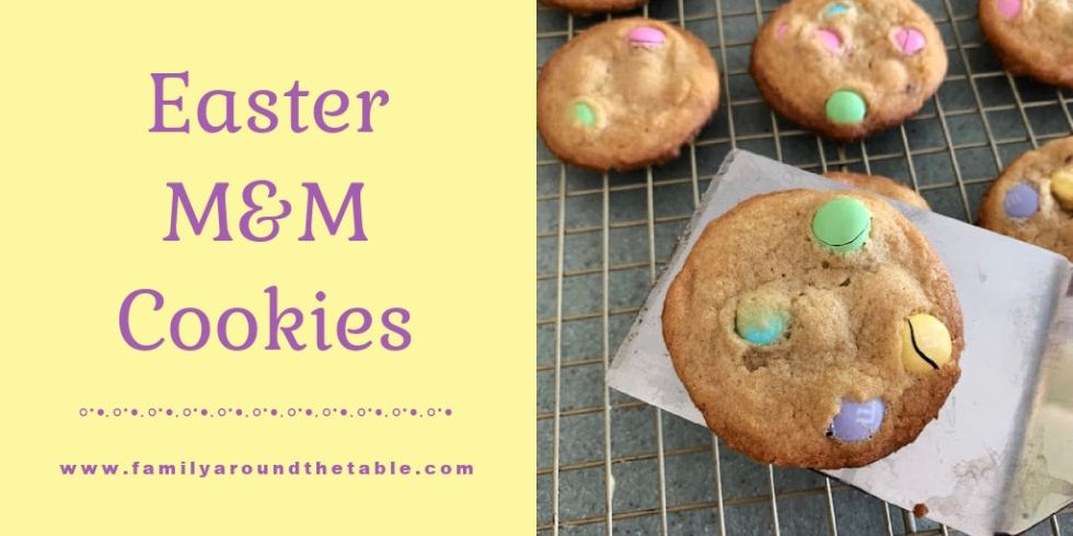 Easter M&M Cookies Twitter Image