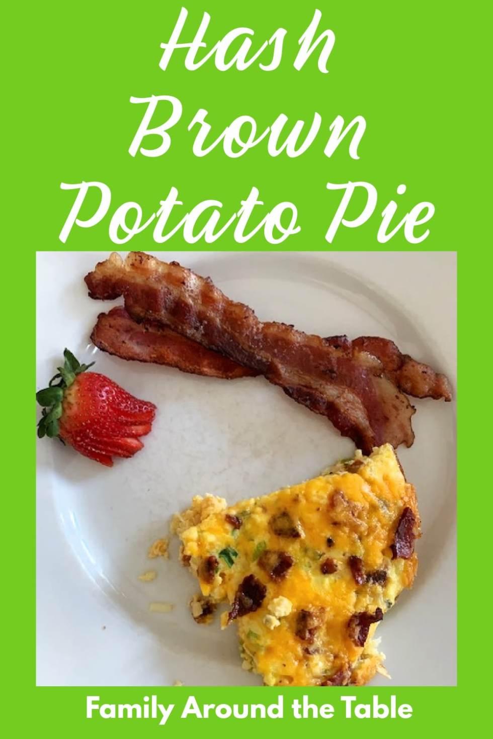 Hash Brown Potato Pie Pinterest Image