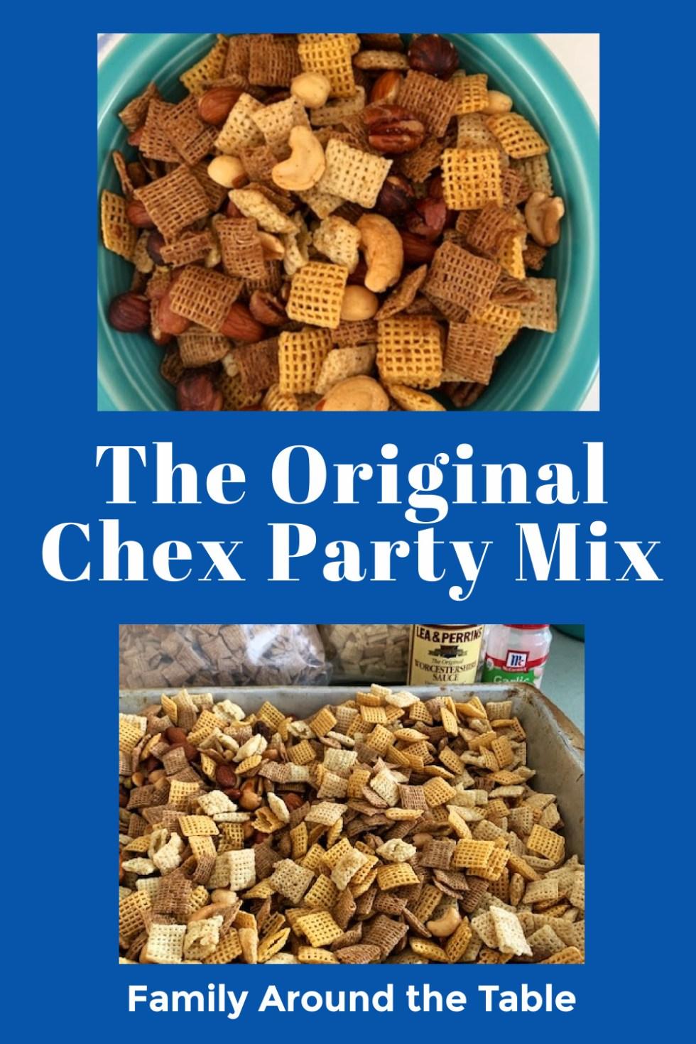 Chex party mix Pinterest image.