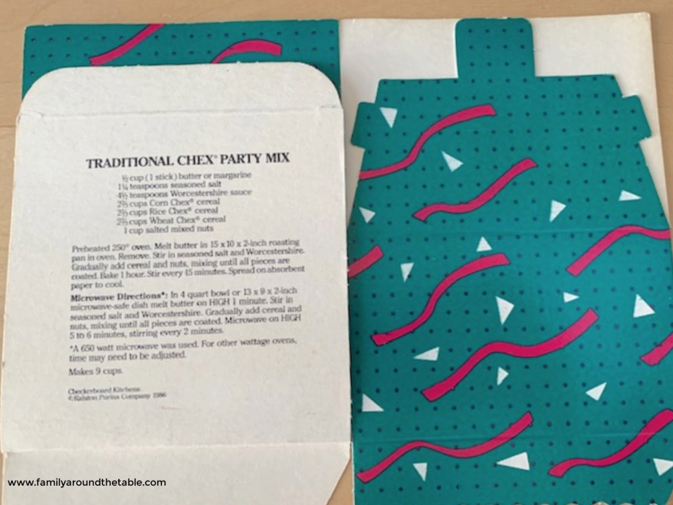 Chex Party Mix Box with the Recipe