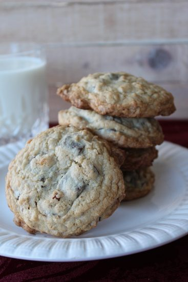 Cowboy cookies are chock full of chocolate chips, oats, pecans and coconut.