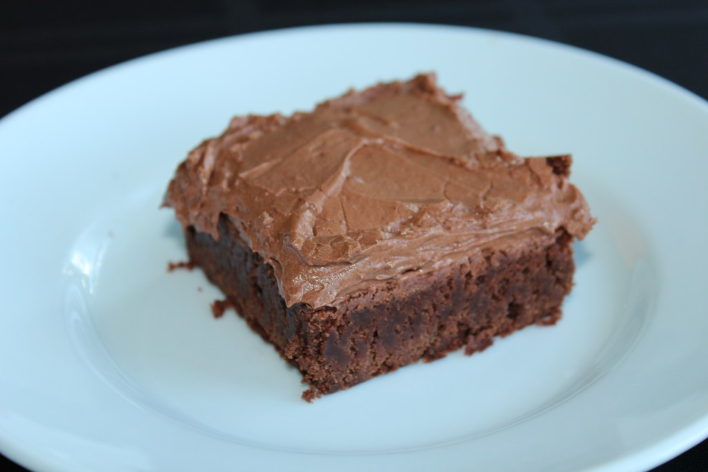 Fudge Frosted Brownies are a rich and delicious after school treat.
