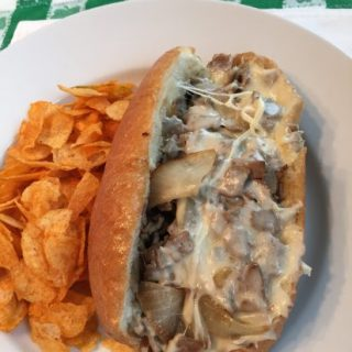 Cheesy Cheesesteak pay homage to my husband's Philadelphia roots.