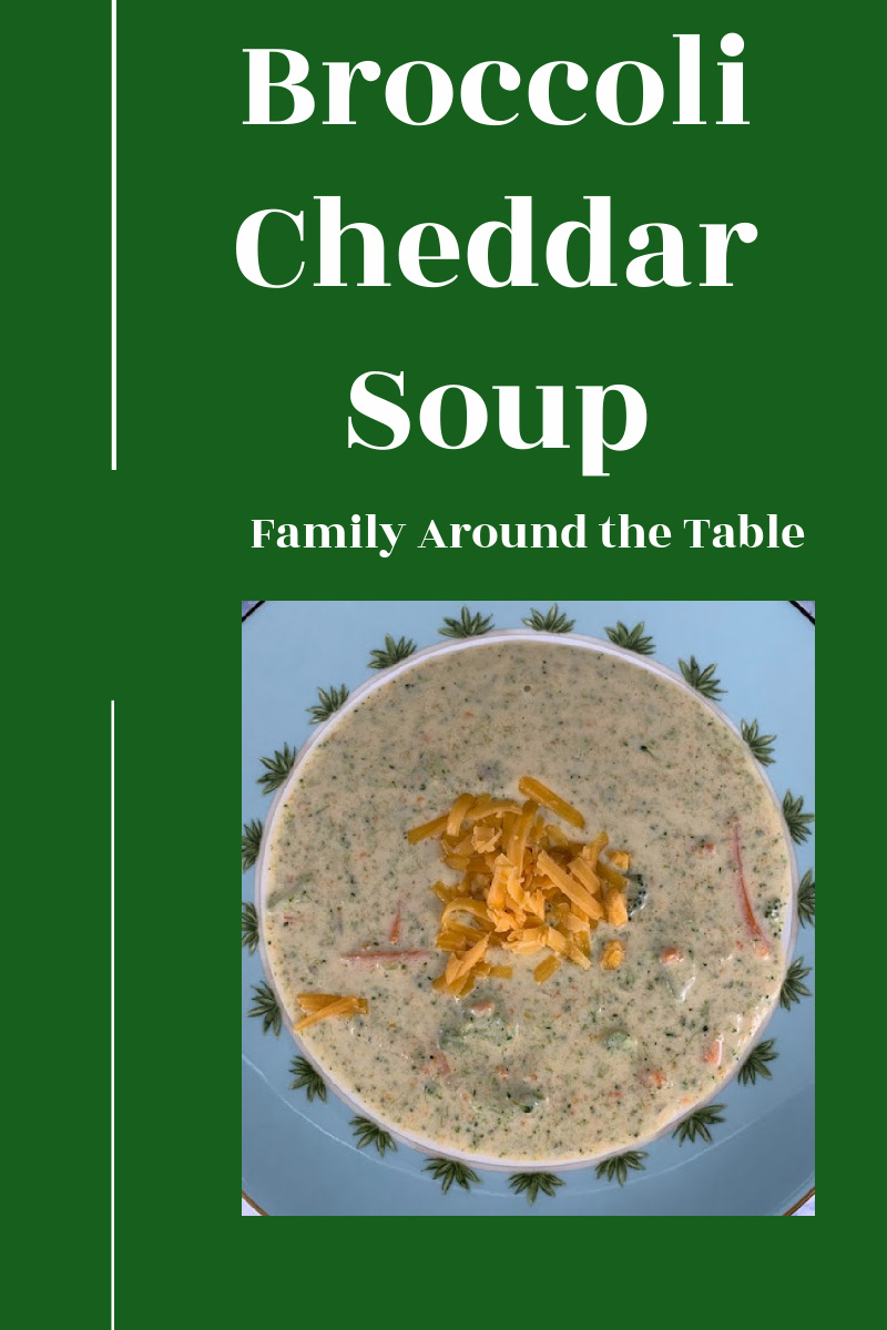 Broccoli Cheddar Soup Pinterest image.
