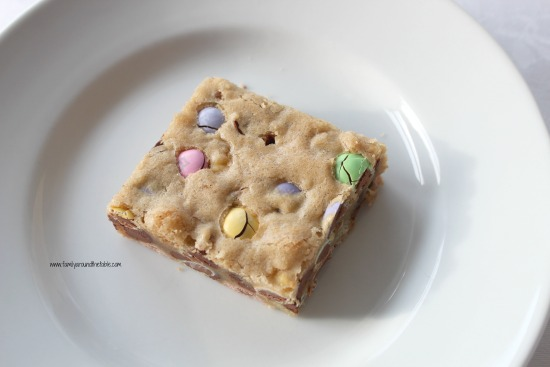 Easter M&M Cookie Bars are a festive addition to your celebration.