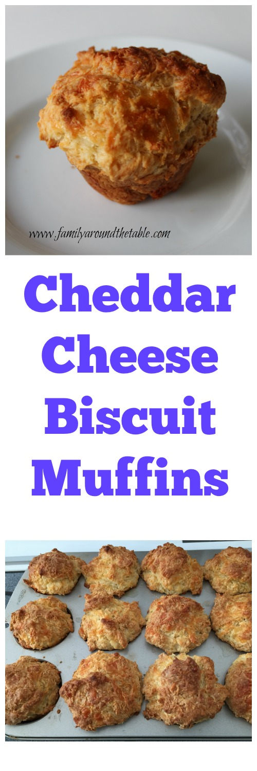 White cheddar cheese muffin biscuits are perfect with soup or chili.