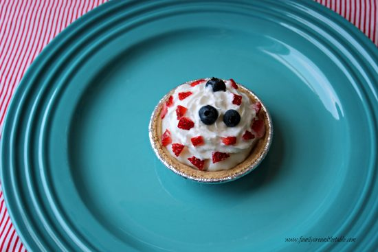 All-American Patriotic Dessert Tarts for an Independence Day Celebration.