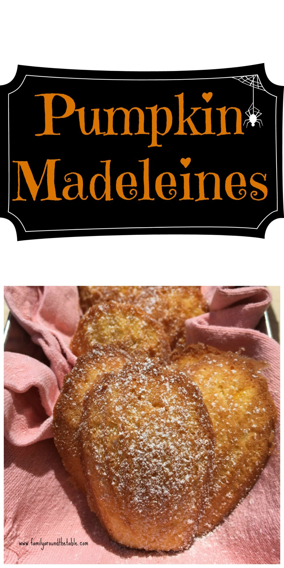 Pumpkin madeleines are a delicious fall treat.