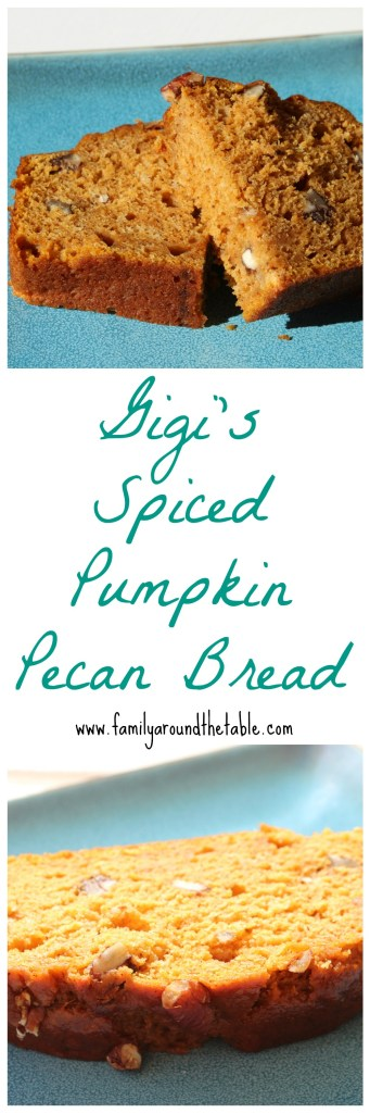 Gigi's spiced pumpkin pecan bread is a family favorite year after year that's perfect for fall.
