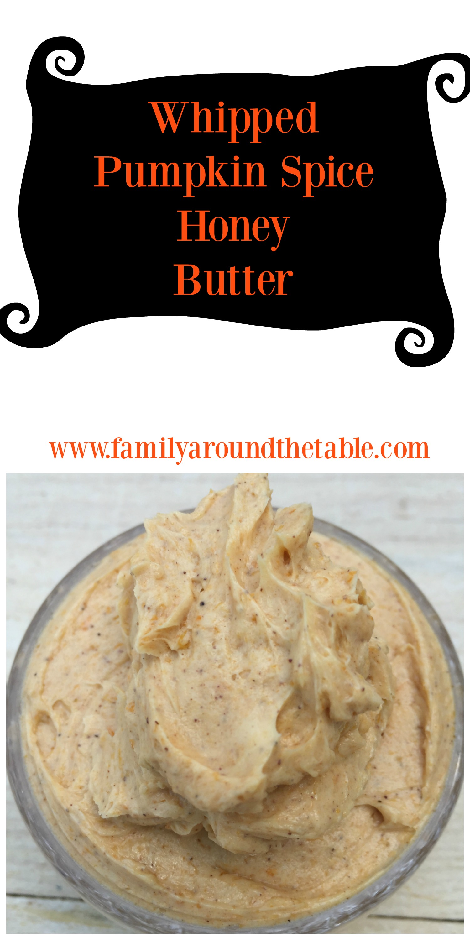 Whipped Pumpkin Spice Honey Butter is delicious on pancakes, muffins, toast and waffles.