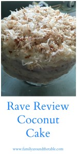 Rave Review Coconut Cake #SundaySupper • Family Around the ...