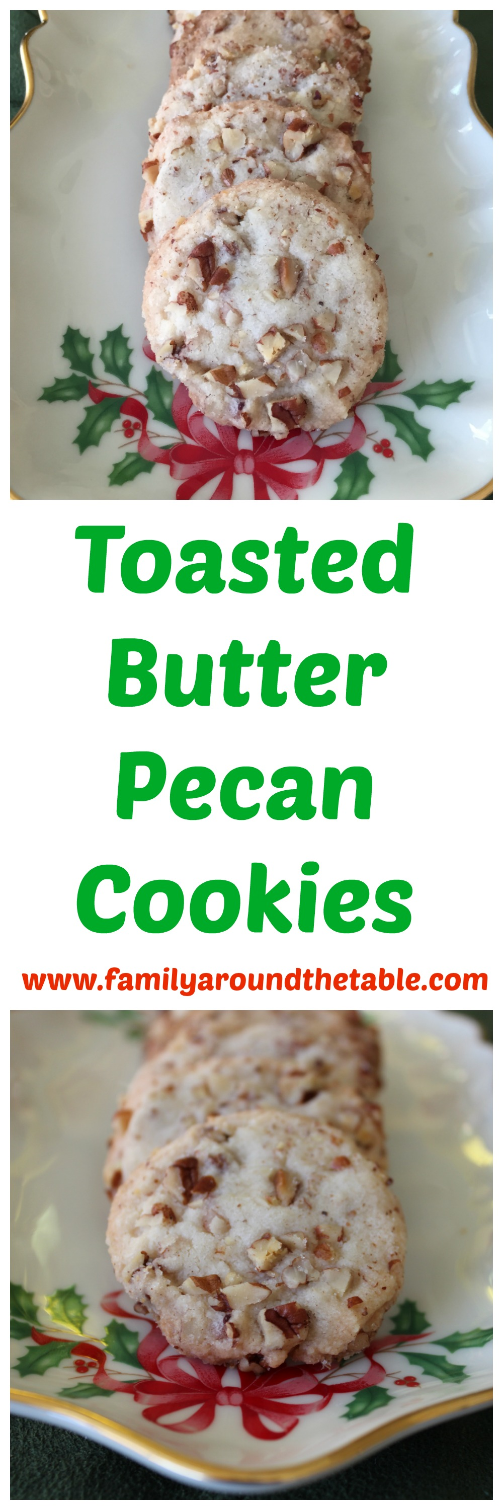 Toasted Butter Pecan Cookies #ChristmasCookies • Family Around the ...