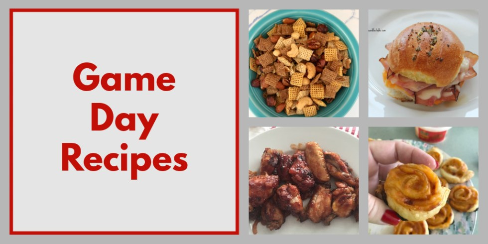 Game day recipes Twitter image.
