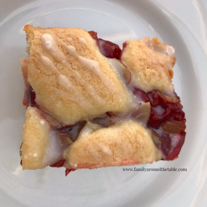 President's Day Cherry Almond Bars