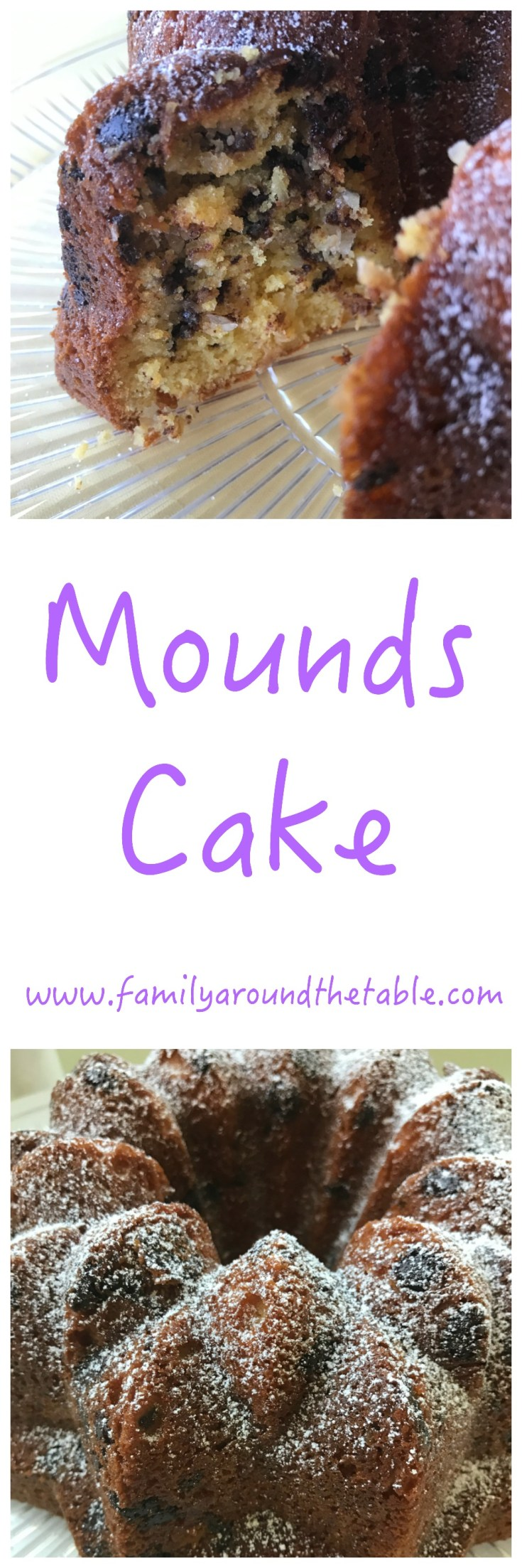 Mounds cake has all the sweet Easter flavors including chocolate and coconut.