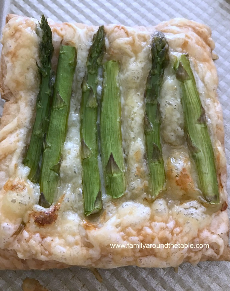 Individual Swiss and Asparagus Tarts