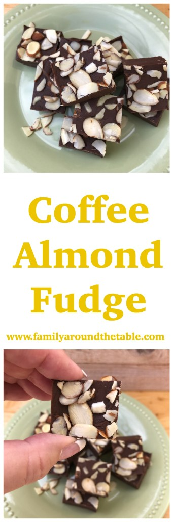 Coffee Almond Fudge