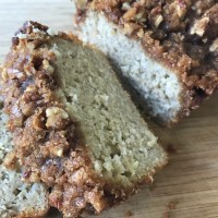 Apple Banana Streusel Bread