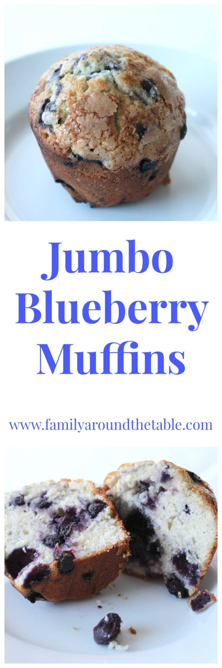 Jam packed full of blueberries these jumbo blueberry muffins are perfect with your morning coffee.