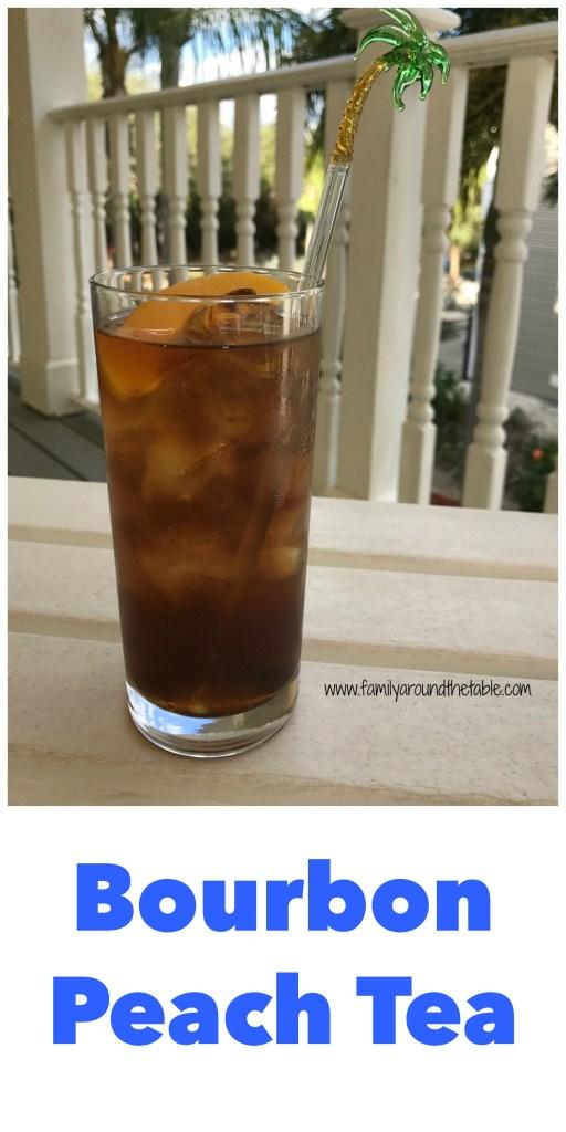 Enjoy a bourbon peach tea while sitting on the front porch.